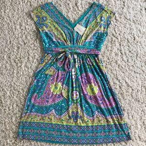 ECI Multi Colored Dress. Size 12 NWT